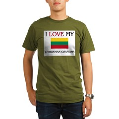 I Love My Lithuanian Grandma Organic Men's T-Shirt (dark)