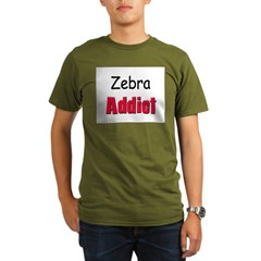 Zebra Addic Organic Men's T-Shirt (dark)