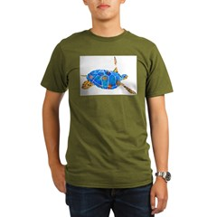 Sea Turtle 2 Organic Men's T-Shirt (dark)