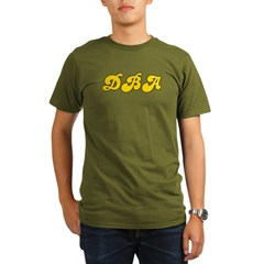 Retro DBA (Gold) Organic Men's T-Shirt (dark)