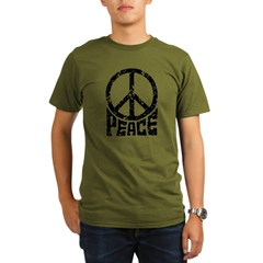 Peace Sign Organic Men's T-Shirt (dark)