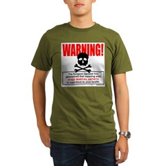 WARNING MMA Organic Men's T-Shirt (dark)