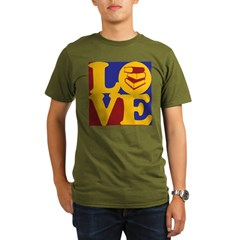 Library Work Love Organic Men's T-Shirt (dark)