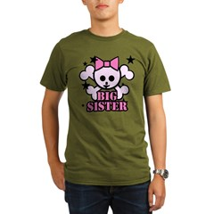 Pink bow skull big sister Organic Men's T-Shirt (dark)