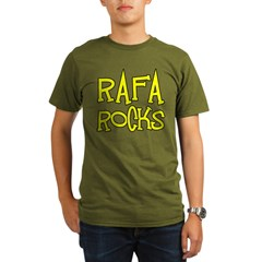 Rafa Rocks Tennis Design Organic Men's T-Shirt (dark)