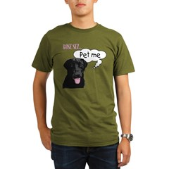 Rose Sez... Pet Me Organic Men's T-Shirt (dark)