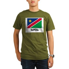 Namibia Flag Organic Men's T-Shirt (dark)