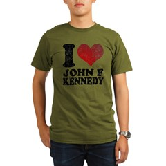 I love John F Kennedy Organic Men's T-Shirt (dark)