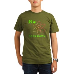 No Nuclear Weapons Organic Men's T-Shirt (dark)