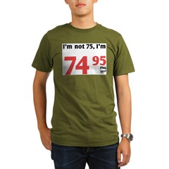 Funny Tax 75th Birthday Organic Men's T-Shirt (dark)