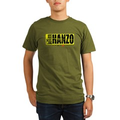 Hanzo Distress Organic Men's T-Shirt (dark)