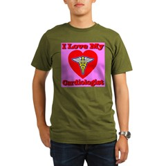 I Love My Cardiologis Organic Men's T-Shirt (dark)