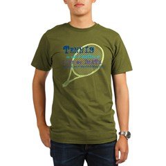 Tennis Life or.... Organic Men's T-Shirt (dark)