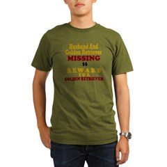 Husband & Golden Retriever Missing Organic Men's T-Shirt (dark)