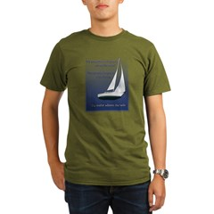 Adjust the sails Organic Men's T-Shirt (dark)