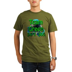 Team Green 24/7 365 Organic Men's T-Shirt (dark)