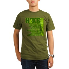Hike Connecticut Organic Men's T-Shirt (dark)