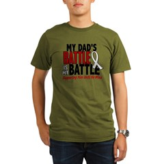 My Battle Too 1 PEARL WHITE (Dad) Organic Men's T-Shirt (dark)