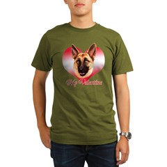 Tan Shep Valentine Organic Men's T-Shirt (dark)