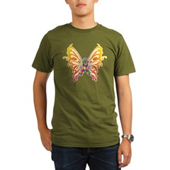 Autism Butterfly Ribbon Organic Men's T-Shirt (dark)