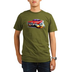 1958-59 Fury Red Car Organic Men's T-Shirt (dark)