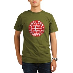 East High Basketball Organic Men's T-Shirt (dark)