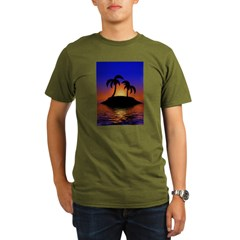 sunrise-sunset--palm-tree-s.jpg Organic Men's T-Shirt (dark)