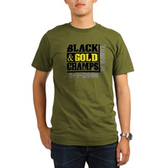 Black and Gold Champs Organic Men's T-Shirt (dark)