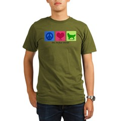 Peace Love Golden Organic Men's T-Shirt (dark)