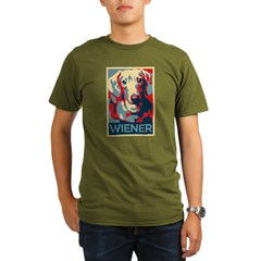Vote Wiener! Organic Men's T-Shirt (dark)