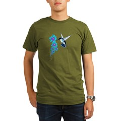 Humming Bird In Blue Organic Men's T-Shirt (dark)
