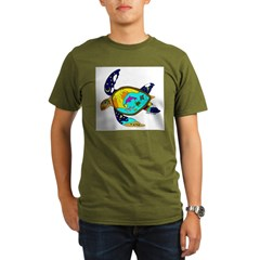 Earth Day Sea Turtle Organic Men's T-Shirt (dark)