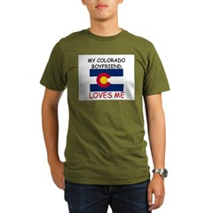 My Colorado Boyfriend Loves Me Organic Men's T-Shirt (dark)