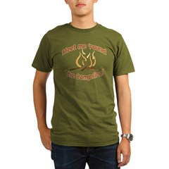MEET ME 'ROUND THE CAMPFIRE! Organic Men's T-Shirt (dark)