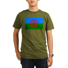 Romani Flag (Gypsies Flag) Organic Men's T-Shirt (dark)