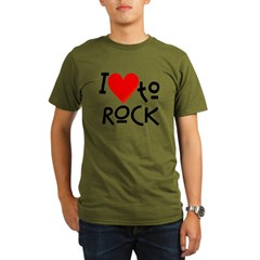 I Love to Rock: Organic Men's T-Shirt (dark)