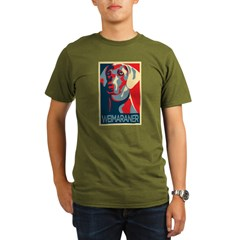 Vote Weimaraner! Organic Men's T-Shirt (dark)