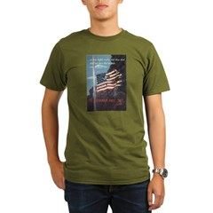 Navy WWII Poster Organic Men's T-Shirt (dark)