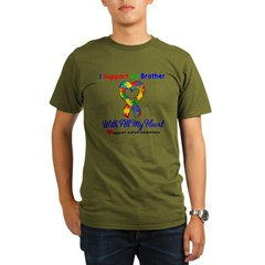 Autism ISupportMy Brother Organic Men's T-Shirt (dark)