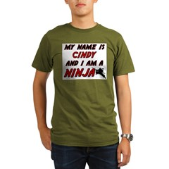 my name is cindy and i am a ninja Organic Men's T-Shirt (dark)