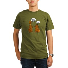 Funny Chocolate Bunnies Organic Men's T-Shirt (dark)
