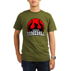 Phoenix Dodgeball Organic Men's T-Shirt (dark)