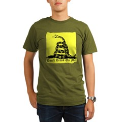 Don't Tread On Me Gadsden Organic Men's T-Shirt (dark)