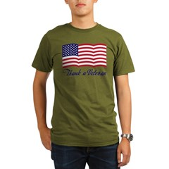 Thank A Veteran Organic Men's T-Shirt (dark)