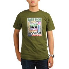 """Dare to Be"" Organic Men's T-Shirt (dark)"