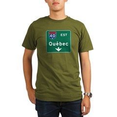 Quebec, Canada Hwy Sign Organic Men's T-Shirt (dark)