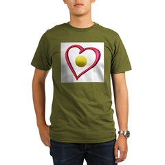 Love Tennis Organic Men's T-Shirt (dark)
