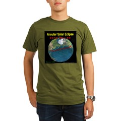 2012 Annular Solar Eclipse Organic Men's T-Shirt (dark)