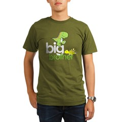 ADULT SIZES big brother dinosaur Organic Men's T-Shirt (dark)