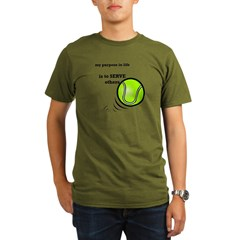 Tennis: Serve Others Organic Men's T-Shirt (dark)